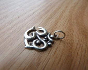 Sterling Om Charm from Nepal