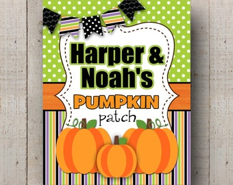 Pumpkin Patch Sign- Bright and Fun