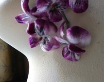 SALE Velvet Millinery Pansies in Dk. Raspberry & Ivory for Boutonnieres, Headbands,Corsages, Bouquets MF205 DRI