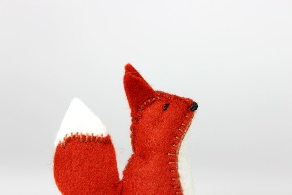 Fox - Tiny Felt Toy Fox - Plush Toy made from Pure Wool