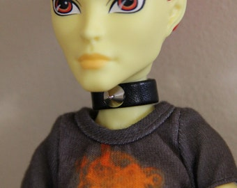 Spike Collar Choker Necklace Gothic Doll Jewelry for Petite Slimline  Monster Boy Guy Male Dolls