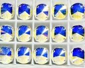 Crystal AB 12mm Sew On Setting 1122 Swarovski Rivoli Crystal Rhinestone Prong 4 Hole Slider