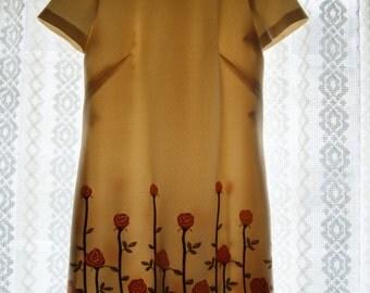 60's rose dress