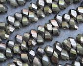 Spiral Cut Pyrite Briolets