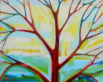 Tree View no. 51 Painting on Canvas (medium, 20x20) Fine Art by Kristi Taylor