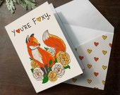 """INSTANT DOWNLOAD Printable Valentines """"You're Foxy"""" Folded Card Aniversary, Love you card, Valentines"""