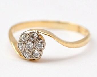 Fake Diamond Rings  Art Deco 18K Gold  Size 6Fake diamond ring   Etsy. Fake Diamond Wedding Rings. Home Design Ideas