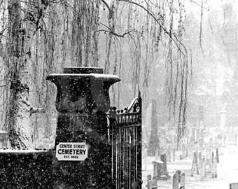 Brooklyn Cemetery in Snow -  Brooklyn Photo, Wall Art