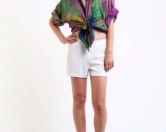 The Vintage Multicolor Groove It On Tie Dye Shirt Blouse