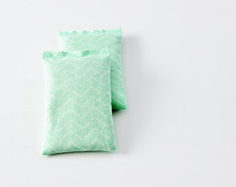 French Lavender Sachets, Mint Chevron Geometric, Moth Repellent Drawer Sachets