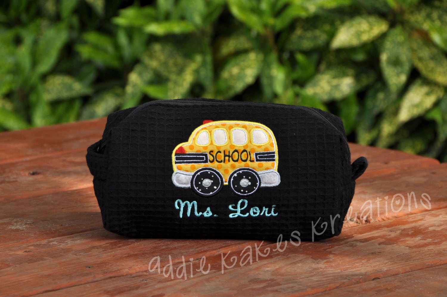personalized school bus bag bus driver gift waffle bag