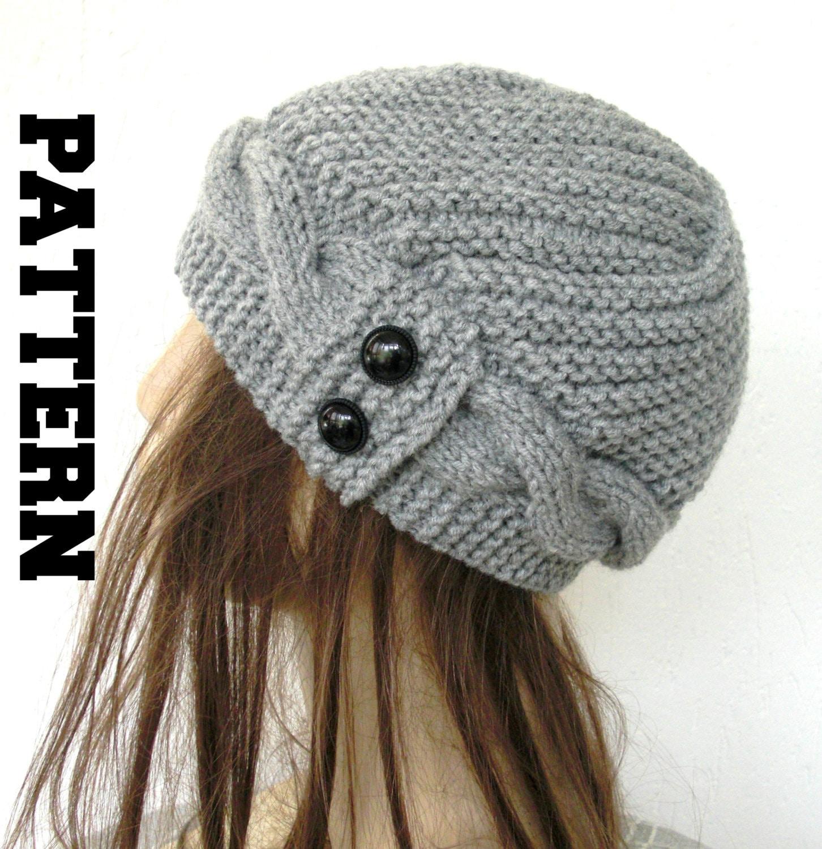Womens Hat Knitting PATTERN PDF Digital Instant Download ...