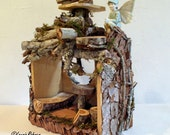 Twig Woodland Fairy House Handcrafted One of a Kind Custom Whimsical Fairy Furniture