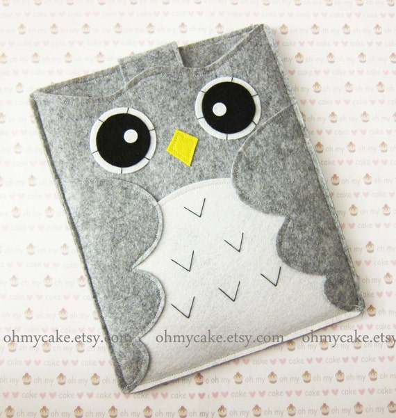 "iPad Sleeve, iPad mini sleeve, iPad Air sleeve, iPad Air case, iPad Air case, iPad 4 sleeve, iPad 4 case, iPad 5 air case, "" Grey owl case"""