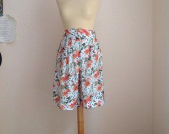 70s Culottes Skort Wide Leg Shorts Split Skirts M Medium