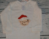 Christmas Monkey 6 Month Bodysuit CLEARANCE