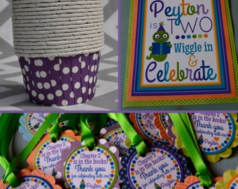 Bookworm Birthday Party Decorations Blue Green Purple Orange Fully Assembled