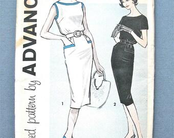 Uncut Early 1960s Advance 9389 Dress Sewing Pattern  Bust 38