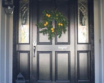 Bonjour Front Door Decal