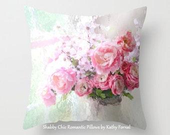 Peonies Throw Pillow, Peony Flowers Pillow, Paris Peonies Roses Throw Pillow, Peony Pillows, Decorative Flower Throw Pillows, Floral Pillows