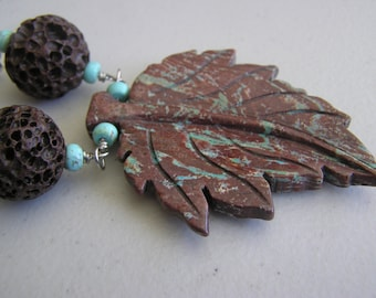 Lava and the Leaves                Fall Leaf Necklace