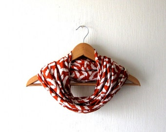 SALE - Prices already reduced -Boho Terracotta Infinity Scarf