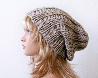 Knitting PATTERN, Knit Slouchy Beanie Pattern, Slouchy Hat Pattern, Slouch Beanie Pattern, Slouch Hat Pattern