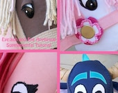 Applique Eye and Cartoon Eyelash and Synthetic Eylash with Eyelid Supplement Pattern and Tutorial ONLY