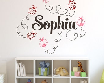 SALE. 1 Day Only. 50% OFF. Use Coupon Code CYBER50.Ladybugs Custom Name Vinyl Wall Decal Sticker