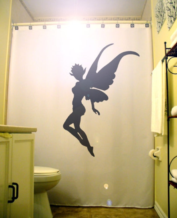 Magical Pixie Fairy Shower Curtain Girl By CustomShowerCurtains