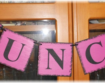 Bunco Banner Garland Pink And Black Game Shabby Chic