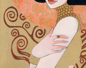 "Klimt's Adele by Leilani Joy 8""x16"" Fine Art Print"