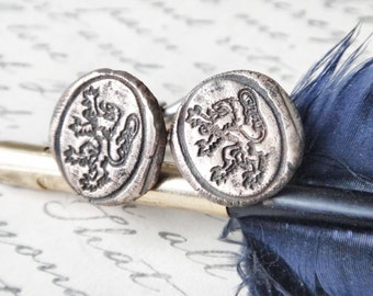 Game of Thrones Cufflinks - Lion of House Lannister - Hear Me Roar - Lion Rampant