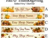 Fall and Thanksgiving Etsy Banner Selections 1