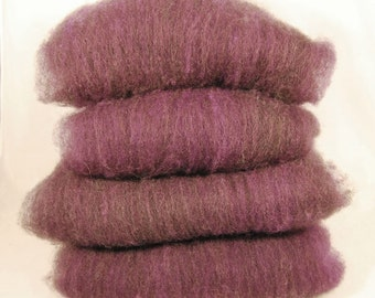Plum Heather Shetland Batts - 4 ounces