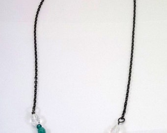 Teal and Opal Necklace