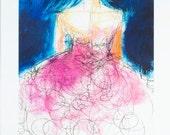 Looking for Love  2, Print, Ballerina, Fashion Art ,Fashion Illustration