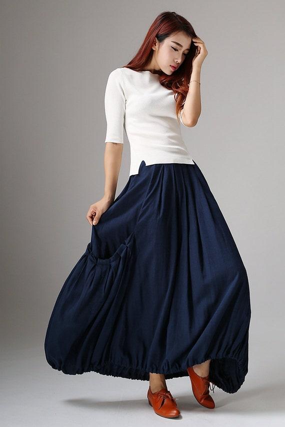 womens skirts maxi skirt skirt linen skirt pleat