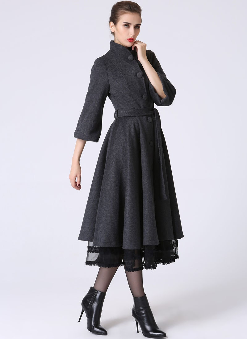 Grey womens coat