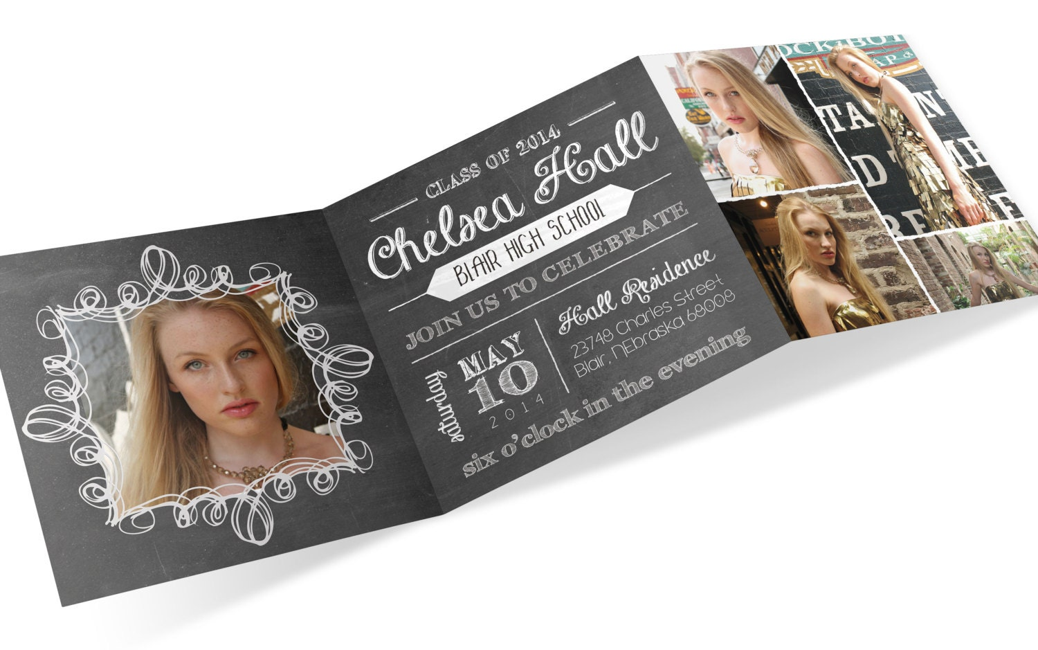 zoom - Tri Fold Graduation Invitations
