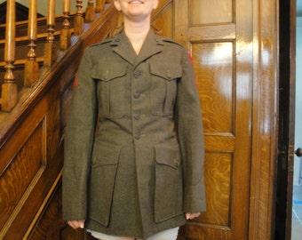 WWII Marine Uniform Jacket Dress Wool Small