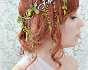 Leaf crown, medieval circlet, headdress, vine head piece, hair accessory
