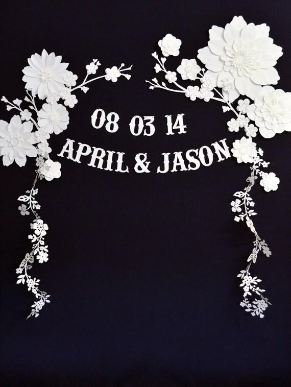 Beautiful custom wedding backdrop or photobooth decoration
