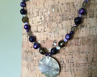 amethyst and sterling necklace