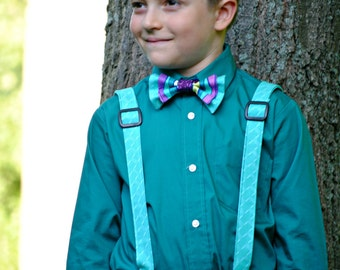 Boy's Bow Tie and Suspenders Set, Bowtie, Suspenders, Ring bearer, Boy suspenders, bowtie suspenders set, children clothing, photo prop