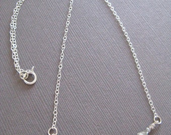 Rough Diamonds Modern Necklace in sterling silver
