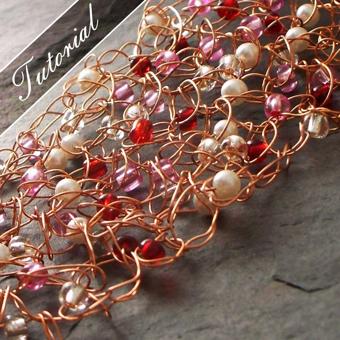 Crocheting With Wire : Jewelry Tutorial. Wire Crochet with Beads by VCArtisanOriginals