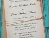 Rustic Wedding Invitations Rustic Chic Invitation Country Wedding invitations DEPOSIT