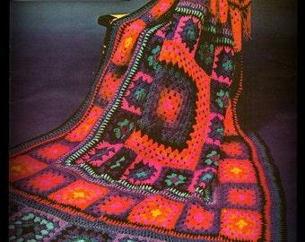Crochet Afghan - Granny Square Pattern - PDF 04282223