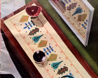 1960s Binca EMBROIDERY Pattern Magazine INTERIOR DECORATION Inspiration